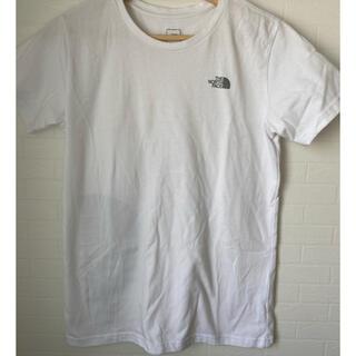 ザノースフェイス(THE NORTH FACE)のTHE NORTH FACE 白 Tシャツ Lサイズ レディース(Tシャツ(半袖/袖なし))