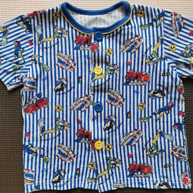 しまむら(シマムラ)の【未着用】半袖はたらく車パジャマ (サイズ100) キッズ/ベビー/マタニティのキッズ服男の子用(90cm~)(パジャマ)の商品写真