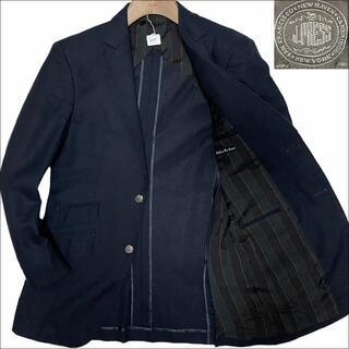 ジェイプレス(J.PRESS)のJ3089 美品 Jプレス ホップサック 春夏 銀ボタン 紺ブレザー JY6(テーラードジャケット)