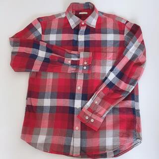 ジーユー(GU)のGU チェックシャツ 赤(シャツ)