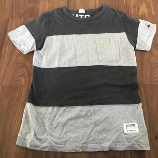 ドアーズ(DOORS / URBAN RESEARCH)のChampion × Mt DESIGN 3776 ボーダーポケットTシャツ (Tシャツ/カットソー(半袖/袖なし))