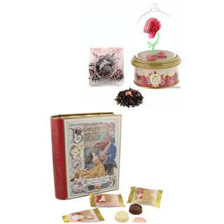 ディズニー(Disney)の【新品】ディズニー 新エリア 美女と野獣 菓子 ローズティー チョコレート缶(菓子/デザート)