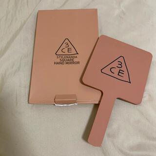 スリーシーイー(3ce)の3CE スリーシーイー 手鏡 ミラー 韓国 オルチャン 未使用(K-POP/アジア)