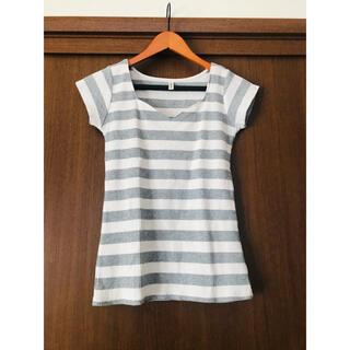 ロイヤルパーティー(ROYAL PARTY)のROYAL PARTY ボーダー ハートネックTシャツ(Tシャツ(半袖/袖なし))