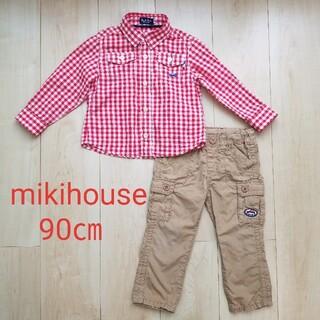 ミキハウス(mikihouse)のミキハウス シャツ パンツ 90㎝(Tシャツ/カットソー)