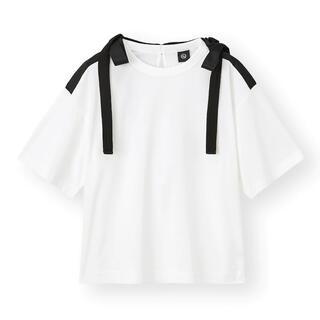 ジーユー(GU)のGU アンダーカバー リボン デザイン Tシャツ ホワイト S (Tシャツ(半袖/袖なし))