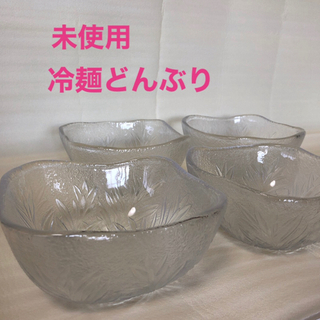 【未使用】佐々木ガラス ヴィンテージ レトロ 冷麺どんぶり サラダボウル