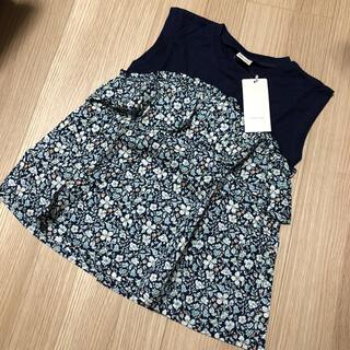 petit main - 新品♡ プティマイン Tシャツ 小花柄トップス