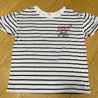 ピンクラテ(PINK-latte)のpinklate★ボーダーTシャツ(Tシャツ/カットソー)