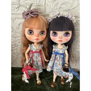 小さな袖のワンピースセット【ピンク】(人形)