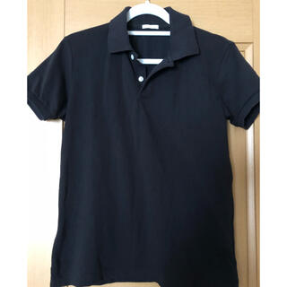ジーユー(GU)のGU 黒 ポロシャツ S(ポロシャツ)
