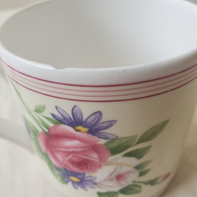 WEDGWOOD(ウェッジウッド)の ウェッジウッド IVORY SPRAY ROSE  マグカップ 廃盤 インテリア/住まい/日用品のキッチン/食器(グラス/カップ)の商品写真