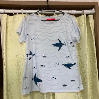 Design Tshirts Store graniph - グラニフ カットソー 半袖 ペンギン マリン