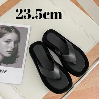 TODAYFUL - 厚底フレームサンダル 黒 37(23.5cm) ブラック プラットフォーム