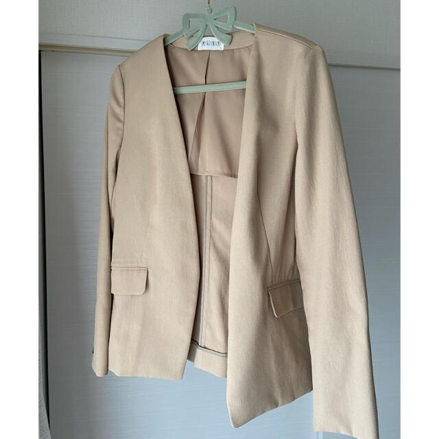 PLST(プラステ)の【PLST】リネン調セットアップスーツ レディースのフォーマル/ドレス(スーツ)の商品写真