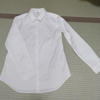 ユニクロ(UNIQLO)のユニクロ コットン 白長袖シャツ(シャツ/ブラウス(長袖/七分))