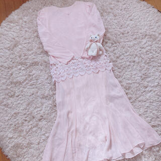 グリモワール(Grimoire)の今週限定 baby pink onepiece(ロングワンピース/マキシワンピース)