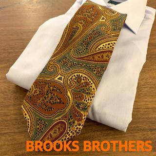 Brooks Brothers - BROOKS BROTHERS ブルックスブラザーズペイズリー柄ネクタイベージュ