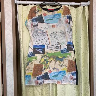 グラニフ(Design Tshirts Store graniph)のグラニフ ワンピース 世界 地図 (ひざ丈ワンピース)