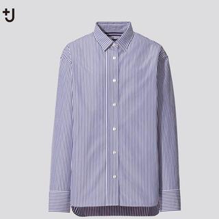 ユニクロ(UNIQLO)の+J スーピマコットンオーバーサイズストライプシャツ(シャツ/ブラウス(長袖/七分))