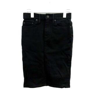 ヒステリックグラマー(HYSTERIC GLAMOUR)のヒステリックグラマー スカート デニム タイト 24 S 黒(ひざ丈スカート)