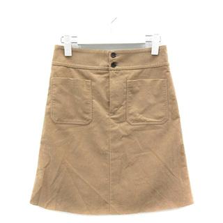 マカフィー(MACPHEE)のマカフィー トゥモローランド スカート 台形 フェイクスエード 34 ベージュ(ミニスカート)