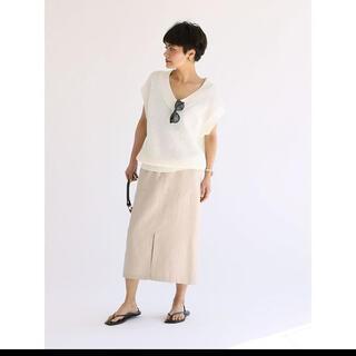 スピックアンドスパン(Spick and Span)のスピックアンドスパン  メンアサタイトスカート未使用品スカート(ひざ丈スカート)