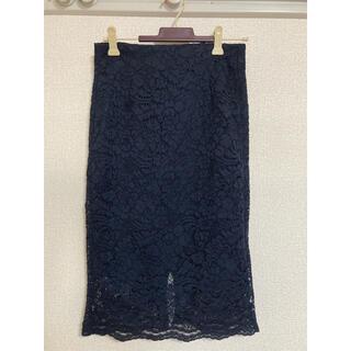 ジーユー(GU)のレースタイトスカート/GU(ひざ丈スカート)