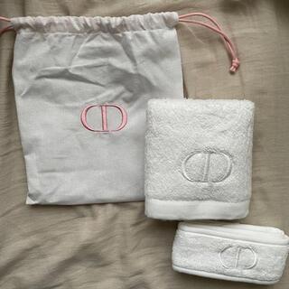 Dior - Dior ディオール ノベルティ タオル ヘアバンド 巾着 3点