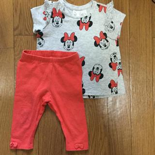 H&M - ミニー 半袖 Tシャツ ズボン セット 4〜6M