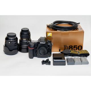 ニコン(Nikon)のNikon D850ボディ・レンズ3本・バッテリー3個・XQDカード4個セット(デジタル一眼)