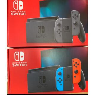 Nintendo Switch - 任天堂スイッチ 本体 ネオン グレー 合計2台