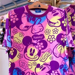 ディズニー(Disney)のディズニーキャラクターTシャツ/ピンクL(Tシャツ(半袖/袖なし))