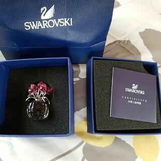 スワロフスキー(SWAROVSKI)のSWAROVSKI チューリップROSE 置物(ガラス)