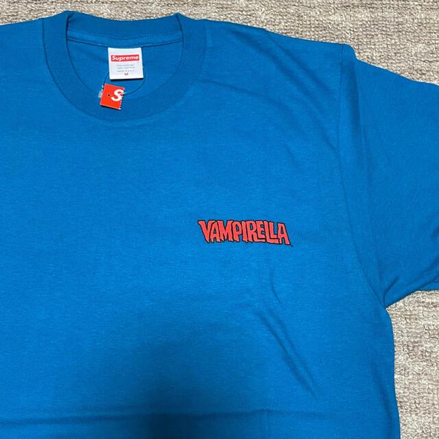 Supreme(シュプリーム)のSupreme Vampirella Card Tee 青 17ss Mサイズ メンズのトップス(Tシャツ/カットソー(半袖/袖なし))の商品写真