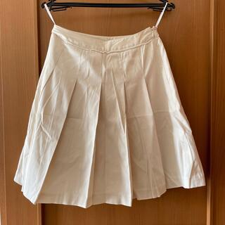 オフオン(OFUON)のアイボリー夏用スカート(ひざ丈スカート)