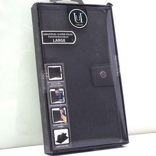 スマートフォン 汎用 手帳型ケース マルチカバー Lサイズ 黒
