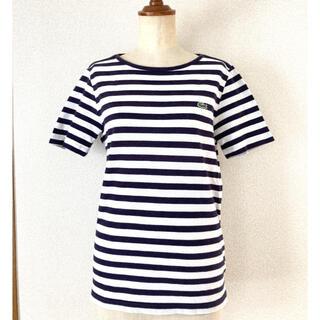ラコステ(LACOSTE)のラコステ ネイビー ホワイト ボーダー 半袖シャツ(Tシャツ/カットソー(半袖/袖なし))