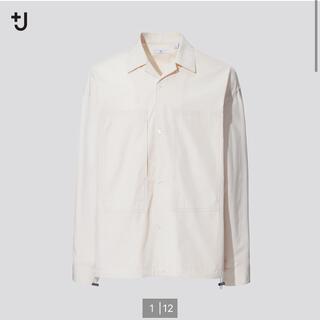 UNIQLO - UNIQLO ユニクロ +j スーピマコットンオーバーサイズシャツ ブルゾン