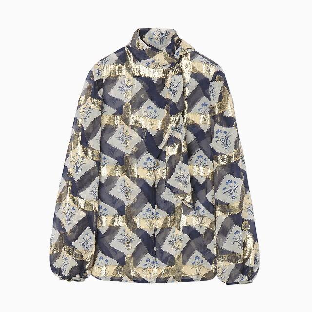 mame(マメ)のmame Floral Print Silk Jacquard Shirt レディースのトップス(シャツ/ブラウス(長袖/七分))の商品写真