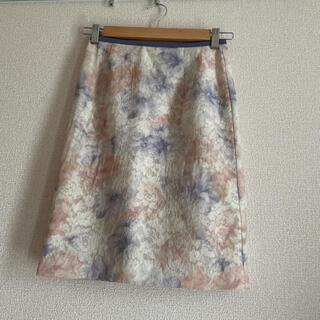 Apuweiser-riche - アプワイザーリッシェ 花柄レースタイトスカート