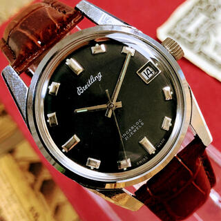 ブライトリング(BREITLING)の#1415【人気の黒文字盤】メンズ腕時計 ブライトリング 動作良好 ヴィンテージ(腕時計(アナログ))