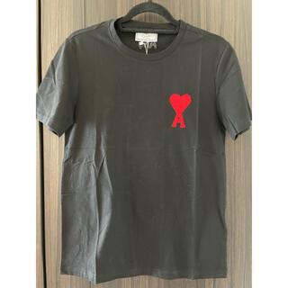 アクネ(ACNE)の新品タグ付き Ami ロゴTシャツ 黒 (Tシャツ/カットソー(半袖/袖なし))