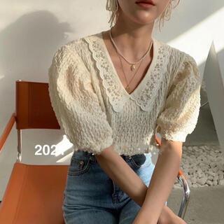 チェスティ(Chesty)の~ 韓国 ♡ パール襟付きパフスリーブブラウス ~(シャツ/ブラウス(半袖/袖なし))