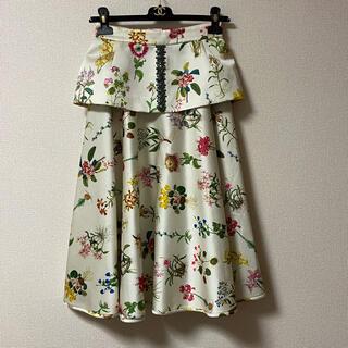 N°21 - ヌメロヴェントゥーノ N˚21 ウエスト飾り ビジュー スカート セット
