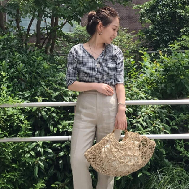 IENA SLOBE(イエナスローブ)のslobe iena スローブイエナ シャーリング5分袖プルオーバー ブラック レディースのトップス(カットソー(長袖/七分))の商品写真