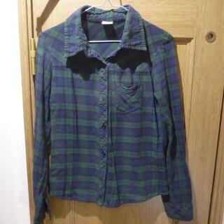 ディズニー(Disney)のディズニー ミッキー&ミニーのシャツ サイズM <738>(シャツ/ブラウス(長袖/七分))