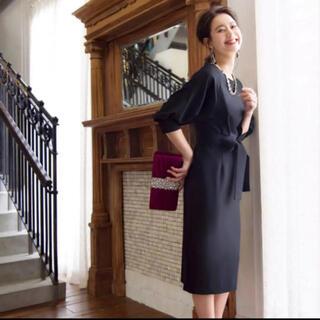 ザラ(ZARA)のRUI RUE 黒 パーティドレス ワンピースドレス(ミディアムドレス)