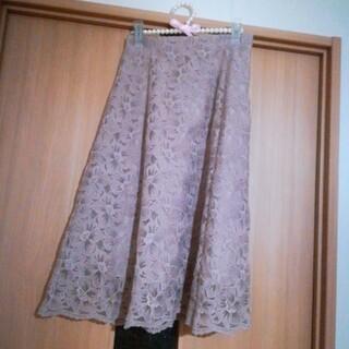 ウィルセレクション(WILLSELECTION)のWILL SELECTION ♡ オーガンジー刺繍花柄スカート(ひざ丈スカート)