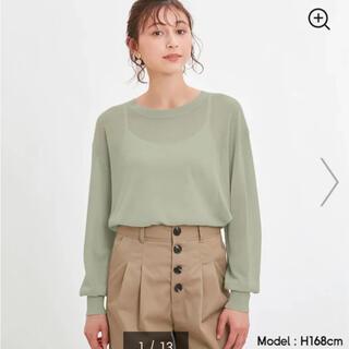 ジーユー(GU)の【未使用】GU シアーオーバーサイズ セーター ニット シースルー(ニット/セーター)